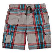 Arizona Plaid Cargo Shorts - Toddler Boys 2t-5t