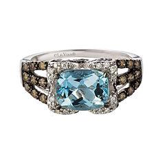LIMITED QUANTITIES  Le Vian Grand Sample Sale Aquamarine and Diamond Ring