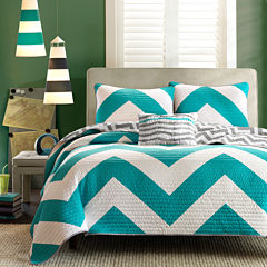 Mi Zone Aries Chevron Reversible Quilt Set
