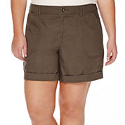 a.n.a® Roll-Cuff Cargo Shorts - Plus