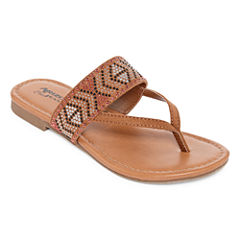 Arizona Rose Girls Flat Sandals - Little Kids