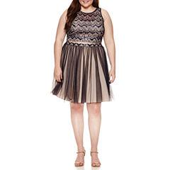 My Michelle Sleeveless Embellished Dress Set-Juniors Plus