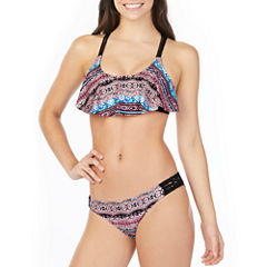 Arizona Floral Flounce Swimsuit Top or Hipster Bottom-Juniors