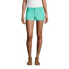 City Streets Poplin Chino Shorts-Juniors