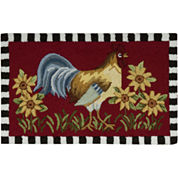 Nourison® Rooster Washable Rectangular Rug