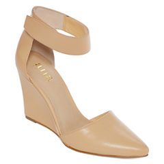 a.n.a® Scarletta Ankle-Strap Wedge Pumps