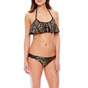 Ninety-Six Degrees Desert Star Foiled Flounce Swim Top, Hipster Swim Bottoms or Cover-Up