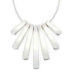 Liz Claiborne® Silver-Tone Mini-Shower Necklace