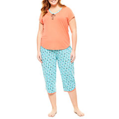 Plus Size Capri Pajama Sets Pajamas & Robes for Women - JCPenney