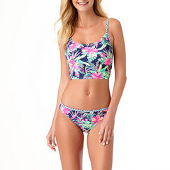 Arizona Floral Midkini Swimsuit Top or Hipster Bottoms-Juniors