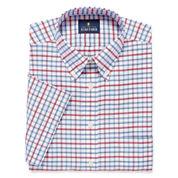 Stafford Travel Wrinkle-Free Oxford Short-Sleeve Dress Shirt