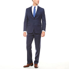 Stafford Super 100's Navy Windowpane Suit Separates-Classic Fit
