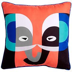 Scribble Elephant Throw Pillow