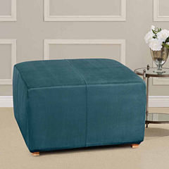 SURE FIT® Ultimate Heavyweight Stretch Suede Ottoman Cover