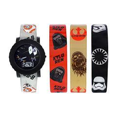 Star Wars Boys Black Strap Watch-Swm3225jc