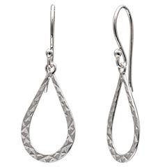 Silver Treasures Bijoux Bar Sterling Silver Drop Earrings