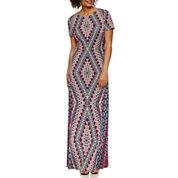 London Style Short Sleeve Maxi Dress