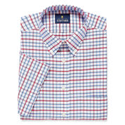 Stafford Travel Wrinkle-Free Oxford-Big & Tall Short-Sleeve Dress Shirt
