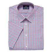 Stafford Travel Easy-Care Broadcloth-Big & Tall Short-Sleeve Dress Shirt