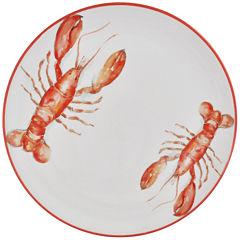 Abbiamo Tutto Lobster Round Ceramic Serving Platter