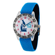 Disney Cars Boys Black Strap Watch-Wds000021
