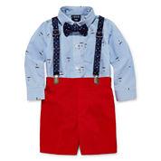 IZOD Boys 3-pc. Long Sleeve Short Set