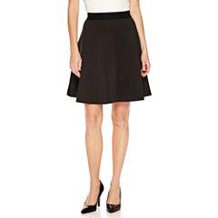 Worthington Scuba Knit A-Line Skirt-Petites