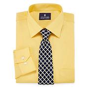 Stafford Travel Easy Care Long Sleeve Dress Shirtand Tie Set- Big & Tall