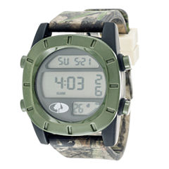 Mossy Oak® Mens Olive Bezel Camouflage Silicone Strap Sport Watch