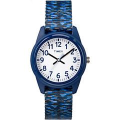 Timex Boys Blue Strap Watch-Tw7c120009j