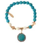 Natasha Accessories Womens Multi Color Crystal Beaded Bracelet