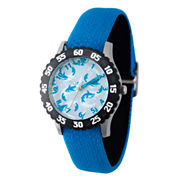 Disney Mickey Mouse Boys Black Strap Watch-Wds000111