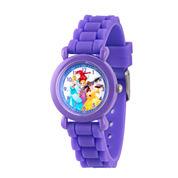 Disney Princess Girls Purple Strap Watch-Wds000148