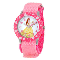 Disney Beauty and the Beast Girls Pink Strap Watch-W001921