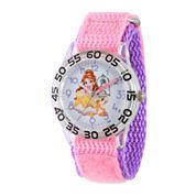 Disney Time Teacher Beauty and the Beast Girls Pink Strap Watch-W002926