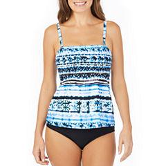 St. John's Bay ® Moroccan Sun Smocked Tankini or Brief Swimsuit Bottom