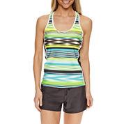 Zeroxposur Stripe Tankini Swimsuit Top