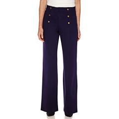 Sag Harbor Knit Flat Front Pants