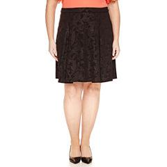 Worthington® Embossed A-Line Skirt - Plus