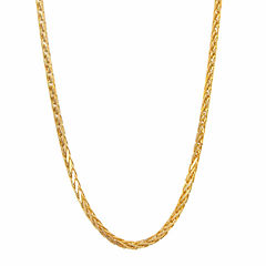14K Yellow Gold Diamond-Cut Wheat Chain 18