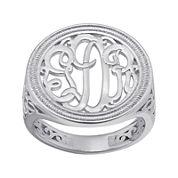 Personalized Monogram Circle Ring