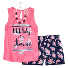 Self Esteem 3-pc. Short Set Big Kid Girls