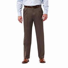 HAGGAR® PREMIUM STRETCH CLASSIC FIT PLEATED