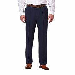 Haggar® eCLo™ Stria Classic-Fit Pleated Dress Pants