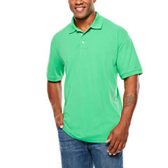 The Foundry Big & Tall Supply Co. Short Sleeve Solid Pique Polo Shirt