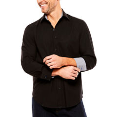 Society Of Threads Solid Button-Front Shirt
