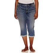 St. John's Bay Cropped Pants-Plus