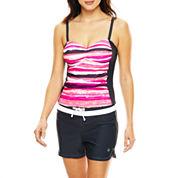 Free Country® Print Tankini Swim Top or Drawstring Swim Shorts