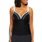 Free Country® Double-Strap Adjustable Tankini Swim Top