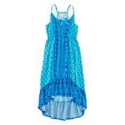 Arizona Sleeveless High-Low Peasant Dress - Girls 7-16